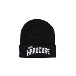 100% hardcore winter beanie hat woven cap