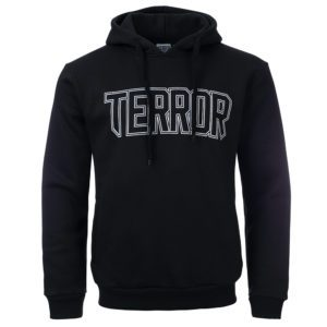 terror hooded sweater with skull death hardcore
