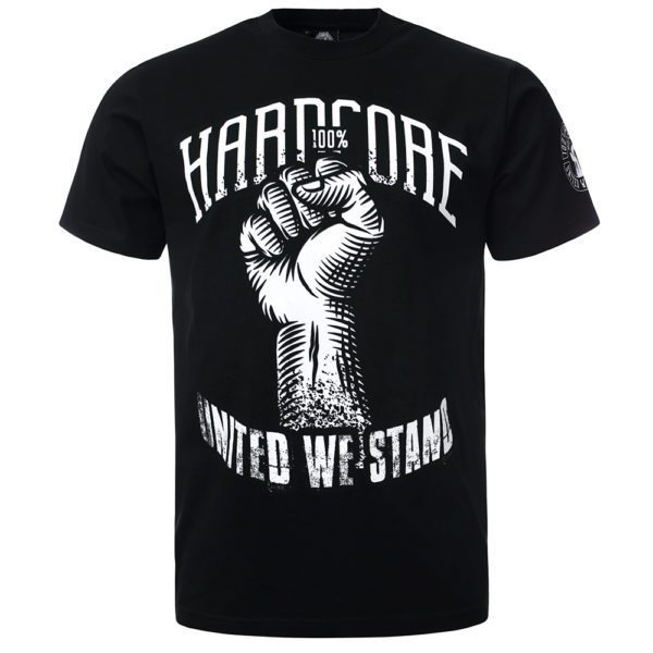 100% Hardcore T-shirt with fist. Festival merchandise