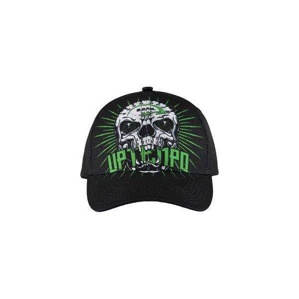 uptempo cap with allover 240 BPM design and embroided artwork