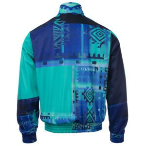 oldschool gabber training jacket 100% Hardcore blue green
