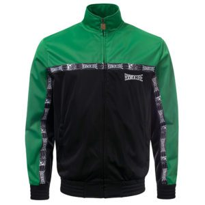 100% Hardcore training jacket green black embroidered design