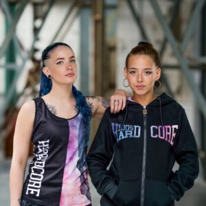 100% Hardcore women dream colelction worn by models gabber merchandise