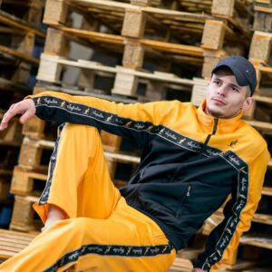 Yellow australian suit ausie pants oldschool gabber clothing at official 100% Hardcore webshop