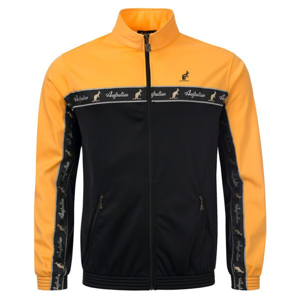 Australian duo training jacket with taping, real italian gabber clothing