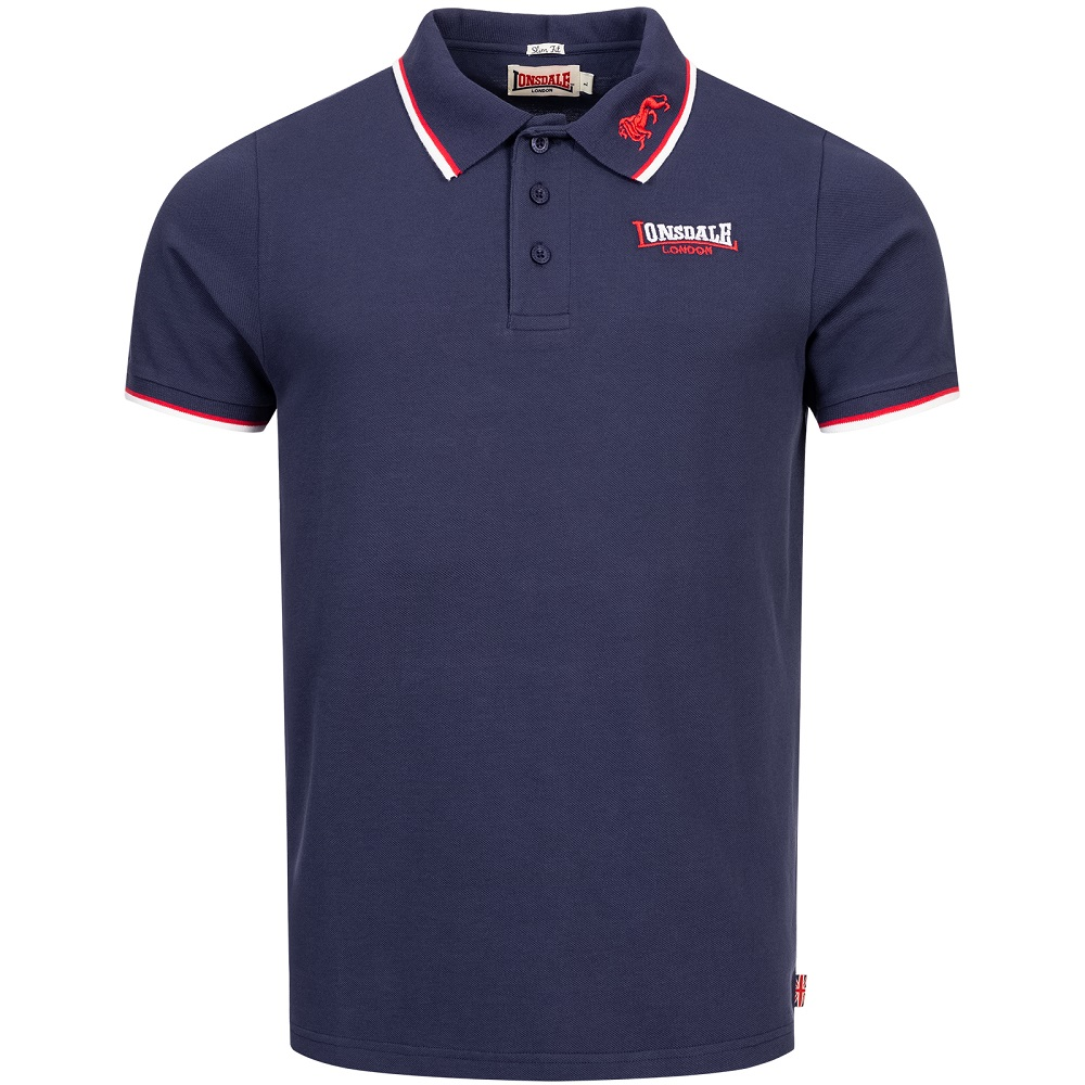 Lonsdale Slimfit Polo The Lion Navy