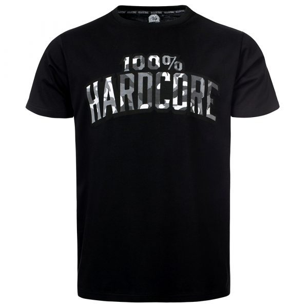 100% Hardcore basic logo camou print T-shirt gabber clothing webshop