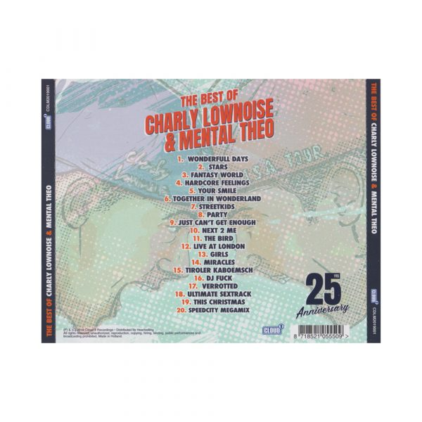 Charly lownoise and Mental Theo best of CD 100% Hardcore webshop gabber
