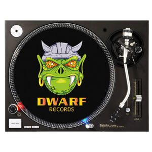 Dwarf records slipmat old school vinyl gabber merchandise webshop