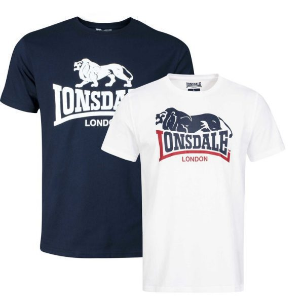 Cheap lonsdale clothing 2 pack T-shirts with logo streetwear webshop
