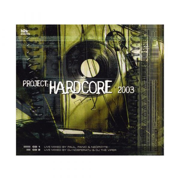 Project hardcore gabber CD 2003 official webshop