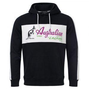 Australian hooded sweater with heritage logo oldschool italian gabber clothing