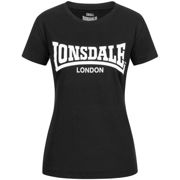 Lonsdale London cheap women T-shirt black classic logo clothing collection new