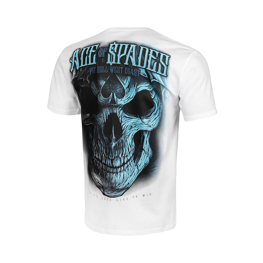 Pit Bull West Coast T-Shirt Blue Skull Wit