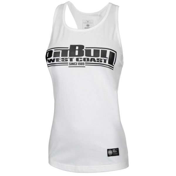 Pit Bull West Coast lady summer collection logo basic white tanktop streetwear clothing
